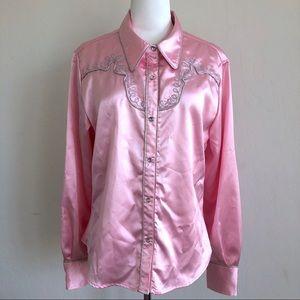 Roper Pink Button Down Shirt